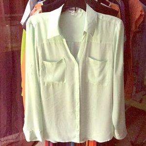 Long sleeve blouse - mint green